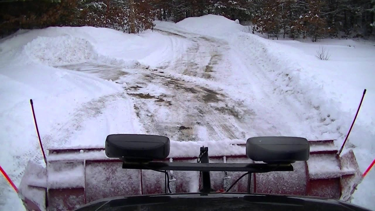 """Snow Plowing Driveway """"Roof Cam"""" Western Pro Plow with ..."""