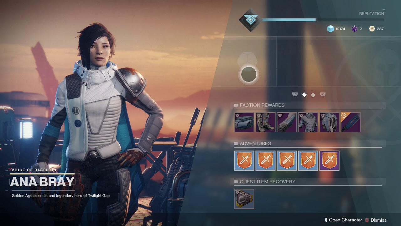 Destiny 2 Update 2 Get Activities From Ana Bray To Get Powerful Gear Youtube I agree with nicholas' answer to the main question here, but i figured i would pitch in something that might be of interest to you: destiny 2 update 2 get activities from ana bray to get powerful gear