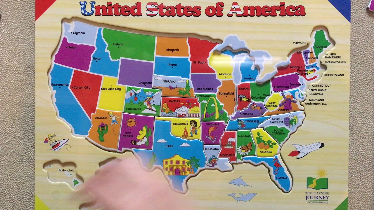 The Learning Journey Lift Learn Usa Map Puzzle Youtube