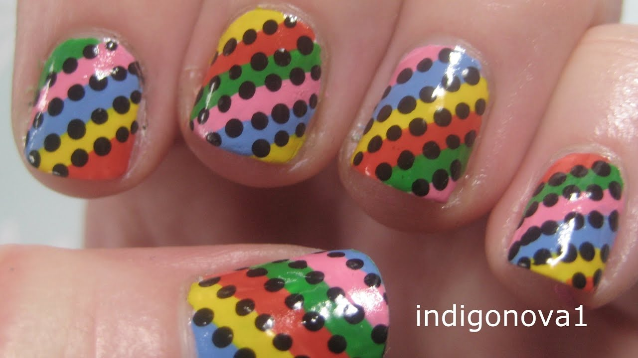 Easy rainbow stripes beginners nail art tutorial on short nails easy rainbow stripes beginners nail art tutorial on short nails youtube prinsesfo Images