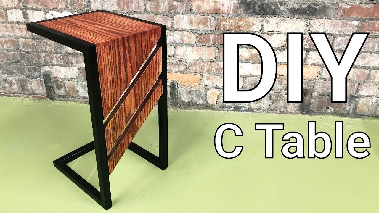 C Table Diy Slide Under Sofa Or Side For Drinks And Snacks