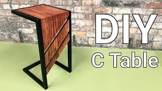 C Table - DIY Slide Under Sofa Table or Side Table for Drinks and Snacks