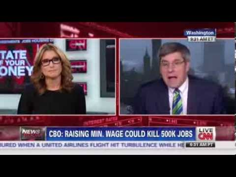 Stephen Moore Schools CNN Anchor on Minimum Wage, Economics