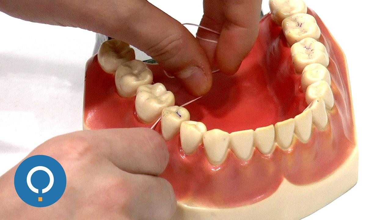 a33864622 Como usar o fio dental corretamente - YouTube