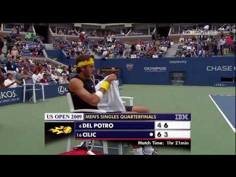 Del Potro vs Cilic US Open 2009 QF HD
