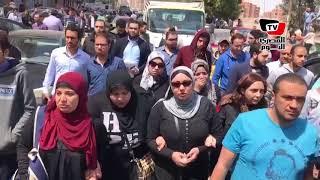 جنازة الكاتب والأديب أحمد خالد توفيق من مسقط رأسه بطنطا