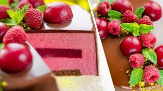 МУССОВЫЙ ТОРТ  Малина Шоколад - Шоколадно-Малиновый Десерт / Chocolate Raspberry Mousse Cake