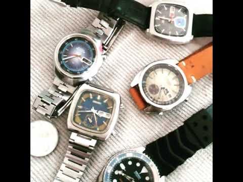 seiko monaco chronograph automatic vs kinetic vs diver's  vintage