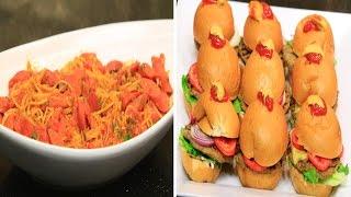 برجر دجاج - مافن البيض بالخضروات والكريب - مكرونة بالهوت دوج   الشيف حلقة كاملة