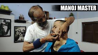 Manoj Master Mustard Oil Head Massage and Hair wash | Indian Massage