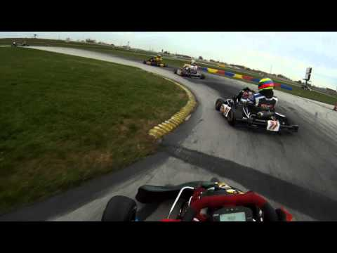 Start of the 2011 Robopong 200 Kart Race at New Castle Motorsports Part (NCMP)