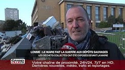 Les déchets sauvages de Lomme exposés devant la mairie
