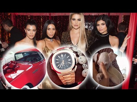 21 RIDICULOUS Gifts the Kardashians & Jenners Got For Christmas 2016