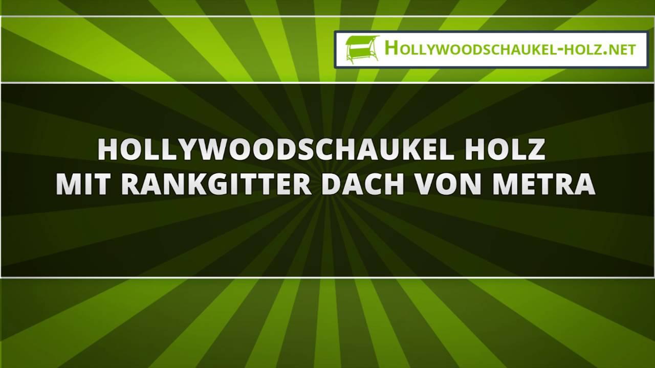 hollywoodschaukel aus holz mit rankgitter dach – bizfast, Moderne