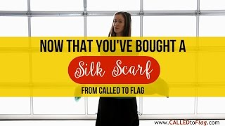 Worship Flag Tutorial Now That You've Bought a Silk Scarf ft Saralyn CALLED TO FLAG