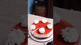 Red Velvet Cake Garnishing Techniques Demonstrated #shorts #reels
