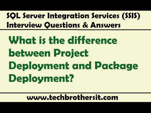 SSIS Interview Question - What Is The Difference Between Project Deployment And Package Deployment