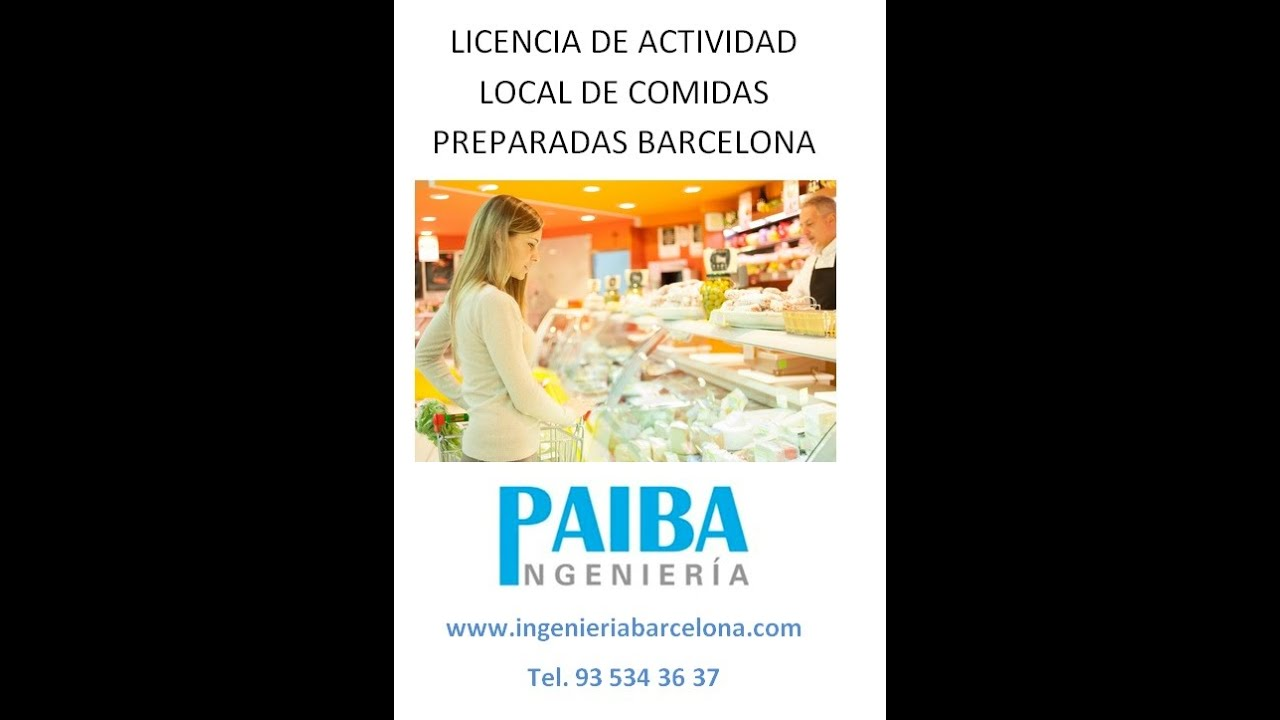 Licencia de actividad o apertura local de comidas for Permiso de obras barcelona