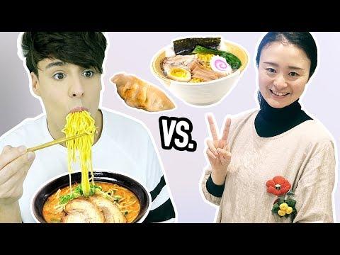 i made RAMEN NOODLES vs. a japanese chef