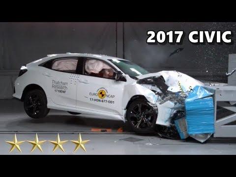 2017 Honda Civic Crash Test (Euro NCAP) - 4 Stars - YouTube