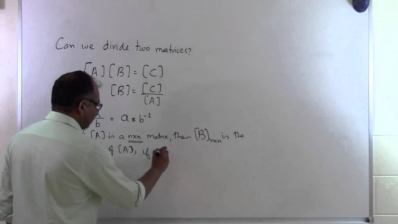 how to divide two matrices