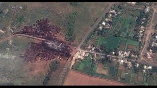 Снимки со спутника места падения Боинга-777(Снимки местности близ села Грабово (Донецкая область), предположительно снятые со спутника, появились в..., 2014-07-22T06:26:34.000Z)
