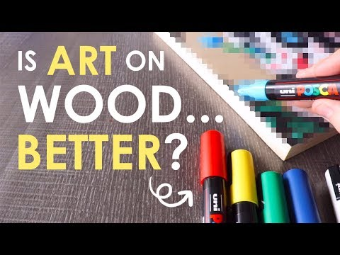 DRAWING on WOOD?! - Mystery Art Supplies Paletteful Pack thumbnail