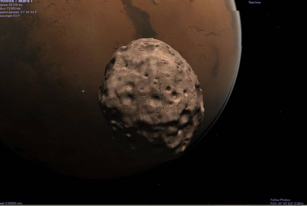 Image result for phobos approaches mars