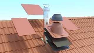 Установка дымохода VILPE(Инструкция по установке печного дымохода дымохода VILPE на кровлю с натуральной черепицей. Видео для сайта..., 2015-04-25T10:50:13.000Z)