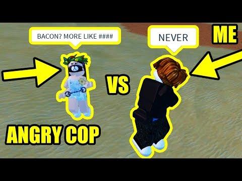 RICH BACON HAIR vs OVERCONFIDENT COP | Roblox Jailbreak