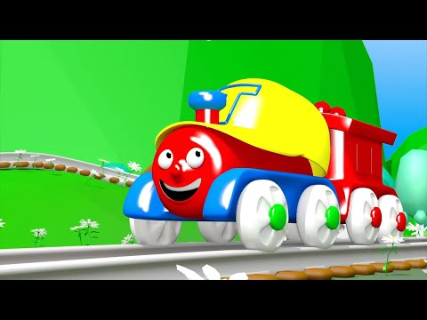 Песни для детей - Паровозик Трейни - Учим цвета + Едет на детскую площадку