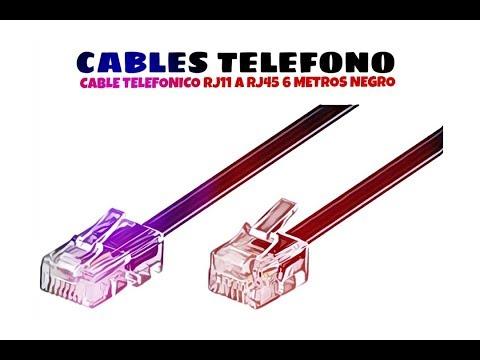 Video de Cable telefonico RJ11 a RJ45 6 M Negro