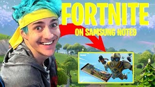 FORTNITE SAMSUNG NOTE9 GAMEPLAY **LIMITED EDITION GALAXY SKIN** | NINJA's Ultimate PC BUILD
