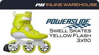 2017 Powerslide Swell Skate Yellow Flash 3x110