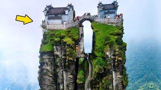 6 Ngôi Nhà Cheo Leo trên đỉnh Núi Đá đẹp như tiên cảnh!