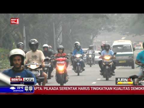 Jalan-jalan Utama Kota Balikpapan Diselimuti Kabut Asap