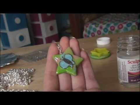 Diy Polymer Clay Keychain With Image Youtube