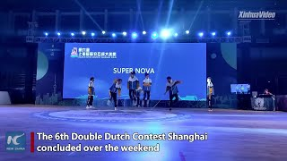 Chinese teens show stunning team skipping skills