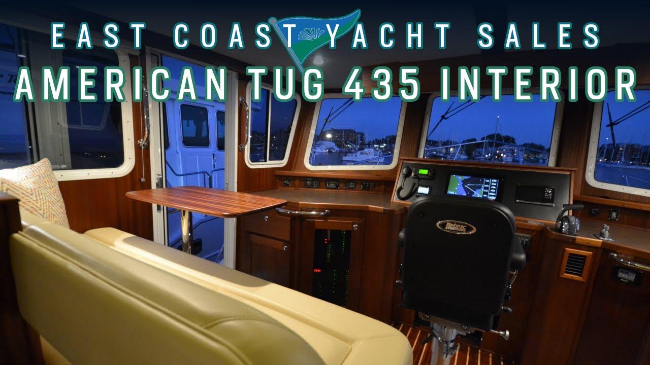 American Tug 435 Interior Walkthrough - YouTube