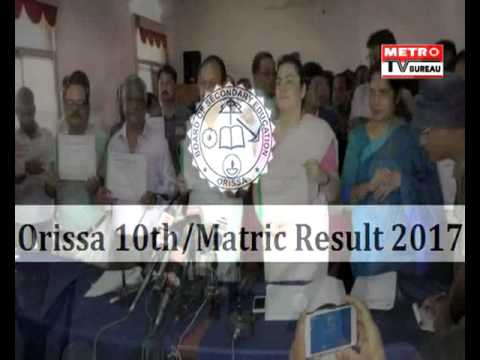 BSE Odisha Matric REsult 2017 Declared