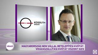Magyarország nem vállal betelepítési kvótát, visszaszállítási kvótát viszont igen