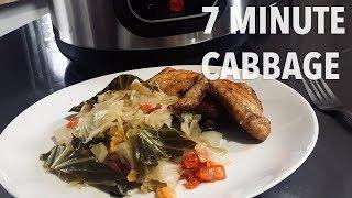 7 Minute Pressure Cooker Cabbage (vegan) GeekChef Electric Pressure Cooker