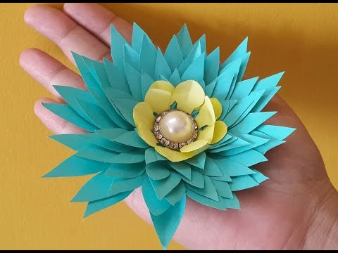 Diy paper flowers idea how to make easy paper flowers step by step diy paper flowers idea how to make easy paper flowers step by step video mightylinksfo