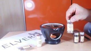 Prezentare candela ceramica pentru ars smirna, tamaie sau salvie - Elvero