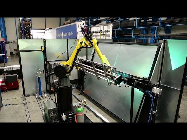 Rahmenschweißen mit Roboter (2-Stationen)