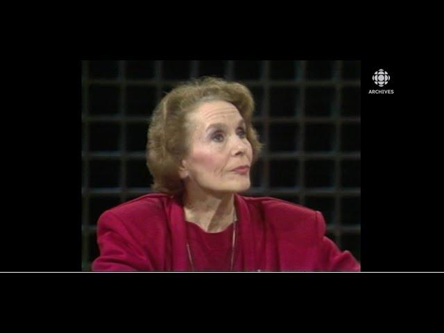 En 1988, Françoise Faucher et le souvenir d'une interview de Marguerite Yourcenar