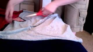كيفية جعل لا خياطة التفاف الطفل الناقل من القمصان