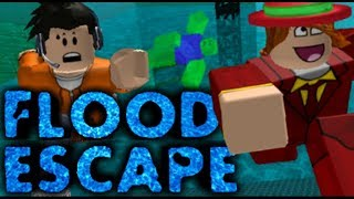 ROBLOX FLOOD ESCAPE!!! PLAYING WITH FRIENDS Watchfulsuperjames & Etc Your Trucking
