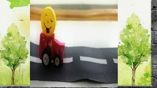 How to make Quilled emoji ride on car