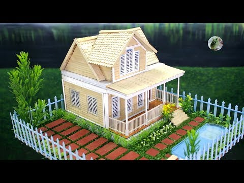 Building Popsicle Stick House with Swimming Pool
